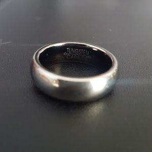 Tungsten carbide wedding band size 7